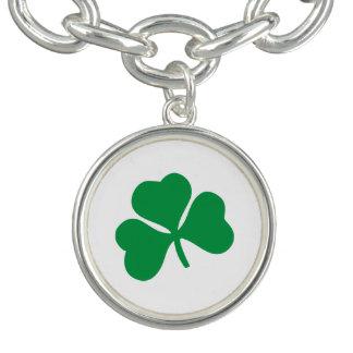 Lucky Shamrock Charm Bracelet