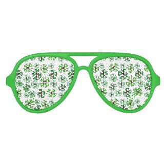 Lucky Shamrock Clover Aviator Sunglasses