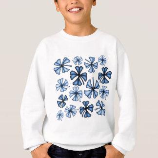 Lucky Shamrock Clover Blue Sweatshirt
