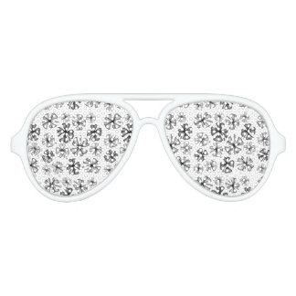 Lucky Shamrock Clover Grey Aviator Sunglasses