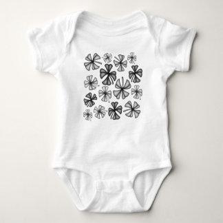 Lucky Shamrock Clover Grey Baby Bodysuit