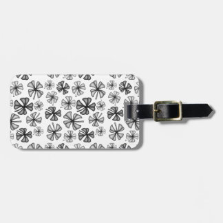 Lucky Shamrock Clover Grey Luggage Tag