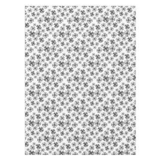 Lucky Shamrock Clover Grey Tablecloth