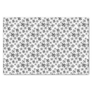 Lucky Shamrock Clover Grey Tissue Paper