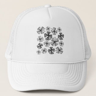 Lucky Shamrock Clover Grey Trucker Hat