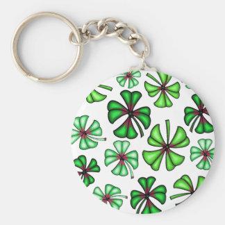 Lucky Shamrock Clover Keychain