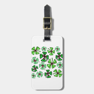 Lucky Shamrock Clover Luggage Tag