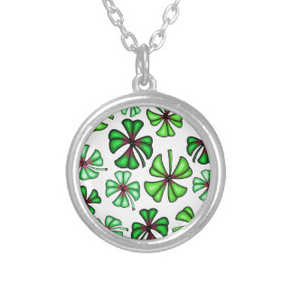 Lucky Shamrock Clover Silver Plated Necklace