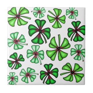 Lucky Shamrock Clover Tile