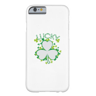 Lucky Shamrock Funny St Patricks Day Gift Barely There iPhone 6 Case