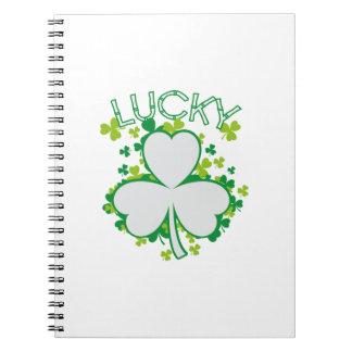 Lucky Shamrock Funny St Patricks Day Gift Notebook