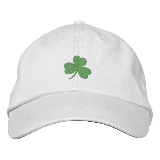 Lucky Shamrock Irish Green Embroidered Hat