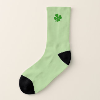 Lucky Shamrock Light Green Small Socks 1