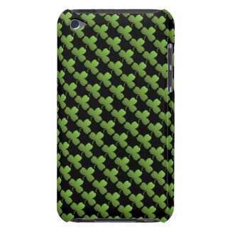 Lucky Shamrock Pattern, Black and Green iPod Touch Covers