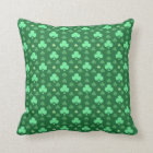 Lucky Shamrock Pattern Throw Pillow