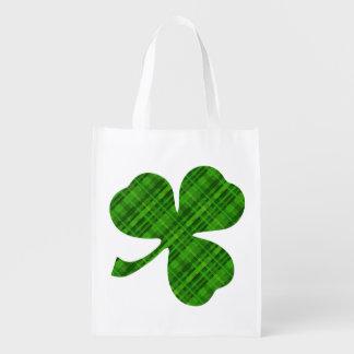 Lucky Shamrock Reusable Tote Bag