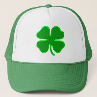 lucky shamrock trucker hat
