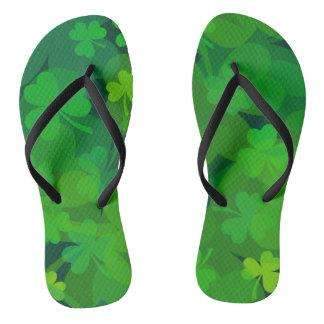 Lucky Shamrocks - Clovers All Over Flip Flops