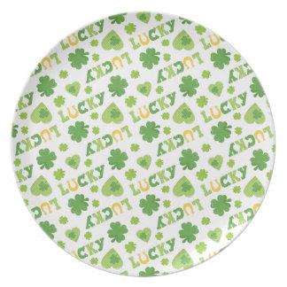 Lucky Shamrocks Dinner Plate