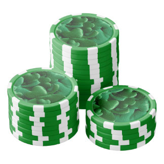 Lucky Shamrocks Poker Chips