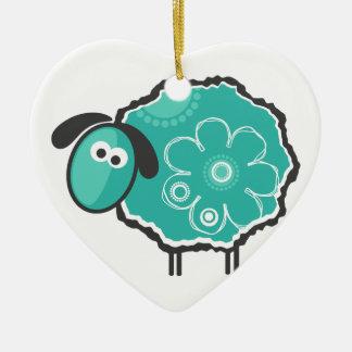 Lucky Sheep Ceramic Ornament