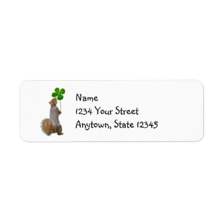Lucky Squirrel Return Address Labels