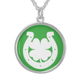 Lucky St Patricks Day Sterling Silver Necklace