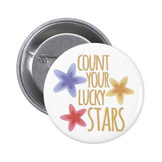 Lucky Stars 2 Inch Round Button
