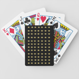 Lucky Stars Black With Gold Stars Design Bicycle Playing Cards