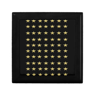 Lucky Stars Black With Gold Stars Design Gift Box