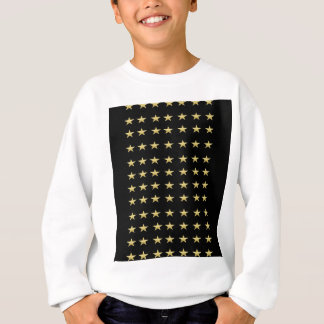 Lucky Stars Black With Gold Stars Design Sweatshirt