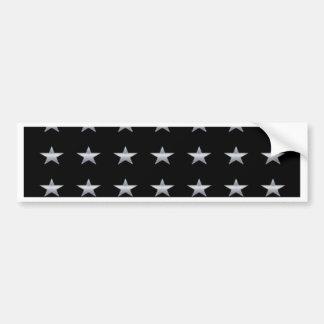 Lucky Stars Black With Silver Stars Design Bumper Sticker