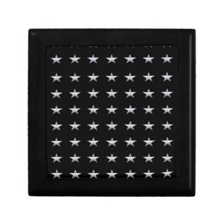 Lucky Stars Black With Silver Stars Design Gift Box