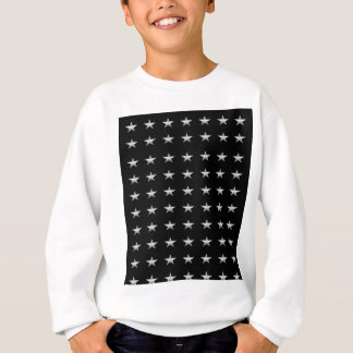 Lucky Stars Black With Silver Stars Design Sweatshirt