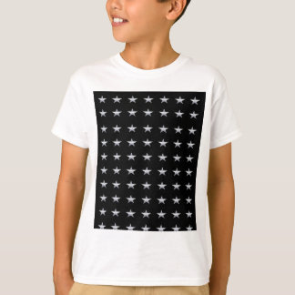 Lucky Stars Black With Silver Stars Design T-Shirt