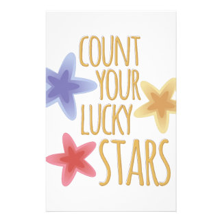 Lucky Stars Personalized Stationery
