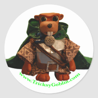 Lucky the Beaver Knight Stickers