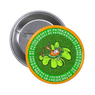 Lucky the Leprechaun 2 Inch Round Button