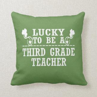 Lucky to be a THIRD GRADE TEACHER Throw Pillow