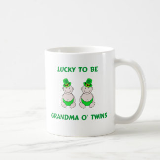 Lucky To Be Grandma O' Twins Coffee Mug