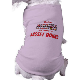 Lucky to Own a Basset Hound Fun Dog Design Shirt