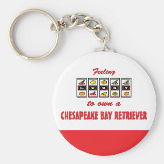 Lucky to Own a Chesapeake Bay Retriever Basic Round Button Keychain
