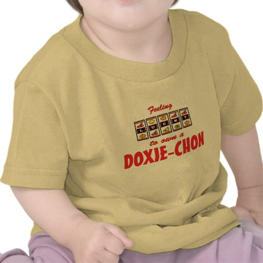 Lucky to Own a Doxie-Chon Fun Dog Design T-shirts