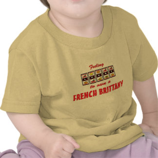 Lucky to Own a French Brittany Fun Dog Design Tshirt
