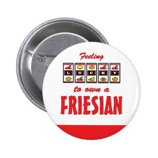 Lucky to Own a Friesian Fun Horse Design Pin