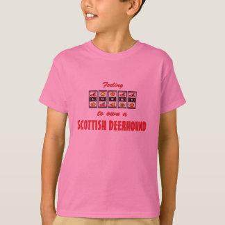 Lucky to Own a Scottish Deerhound Fun Dog Design T-Shirt