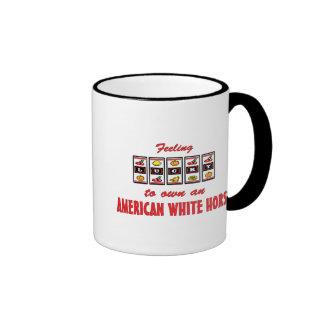 Lucky to Own an American White Horse Fun Design Coffee Mug