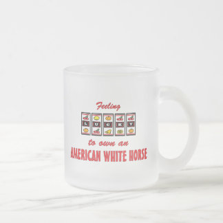 Lucky to Own an American White Horse Fun Design Mug