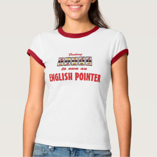 Lucky to Own an English Pointer Fun Dog Design T-Shirt