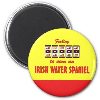 Lucky to Own an Irish Water Spaniel Fun Dog Design Magnet